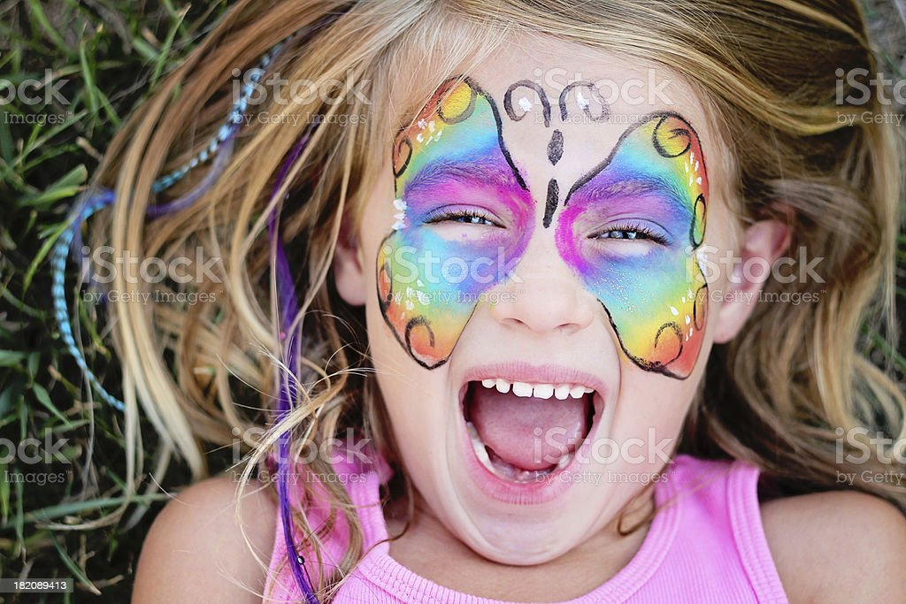Butterfly Face royalty-free stock photo