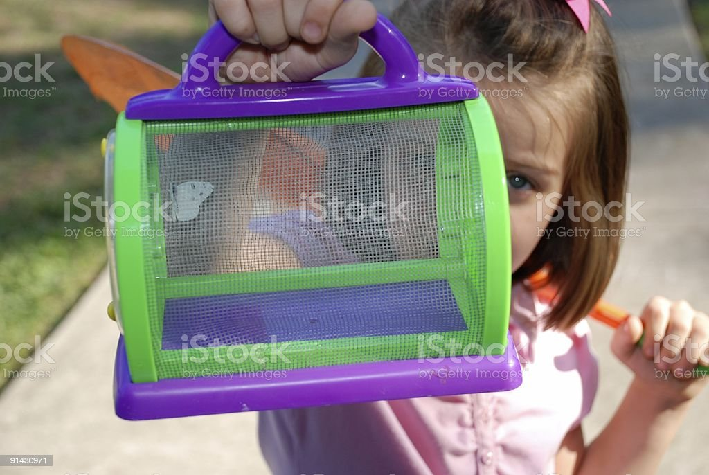 Butterfly - Girl royalty-free stock photo