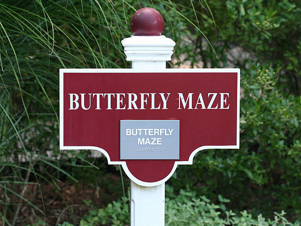"""""""Butterfly Maze"""" Sign"""