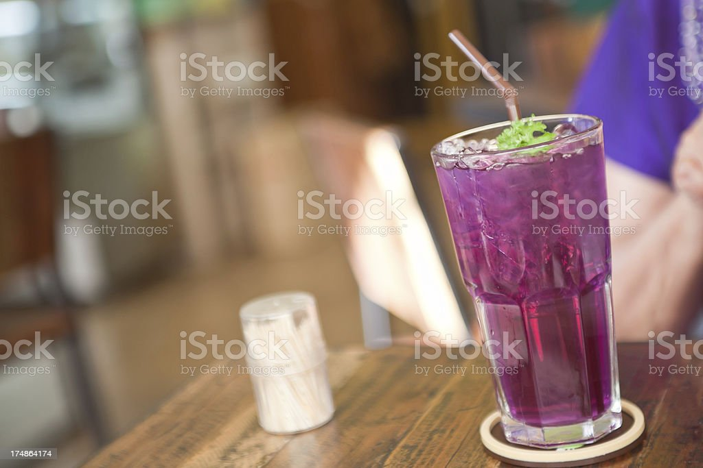 Butterfly Pea Juice royalty-free stock photo