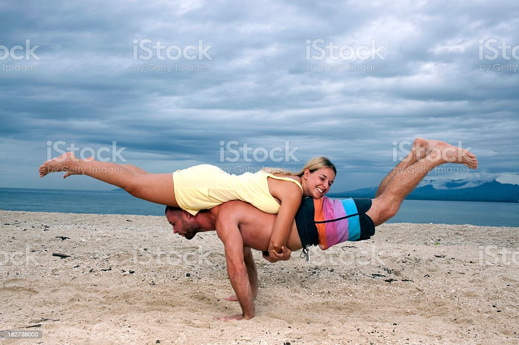 Butterfly pose. royalty-free stock photo