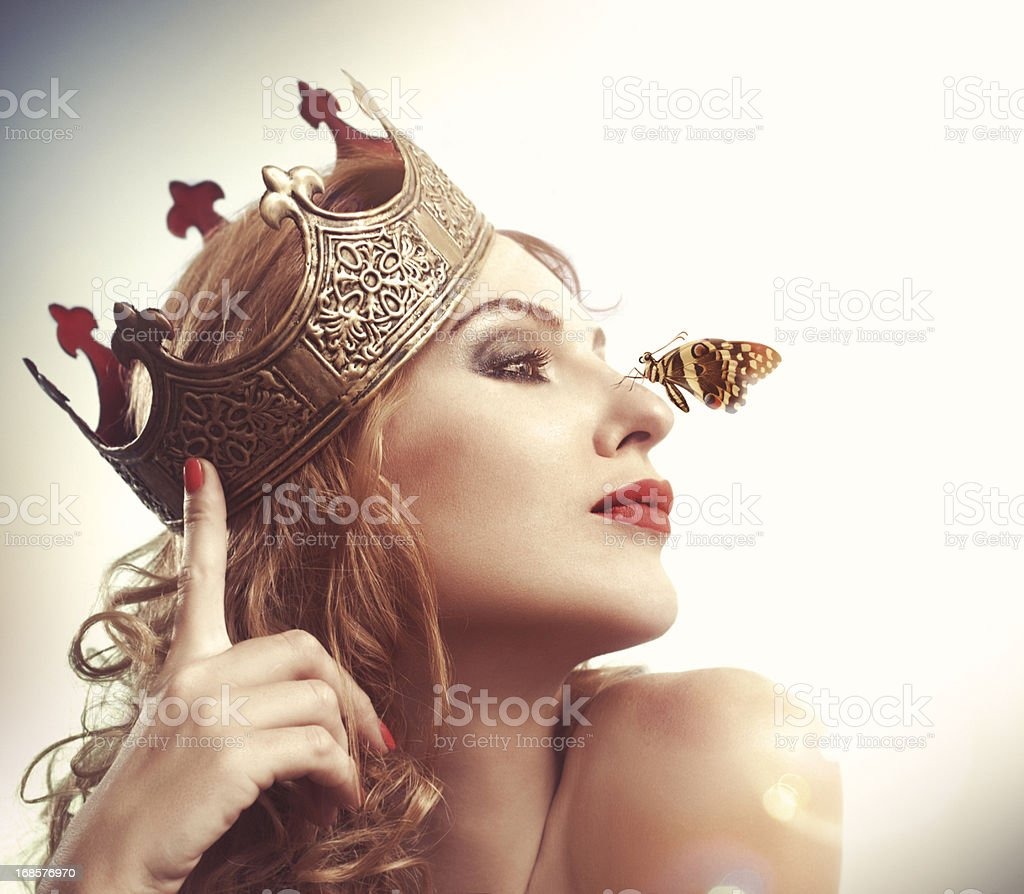 Butterfly Queen stock photo