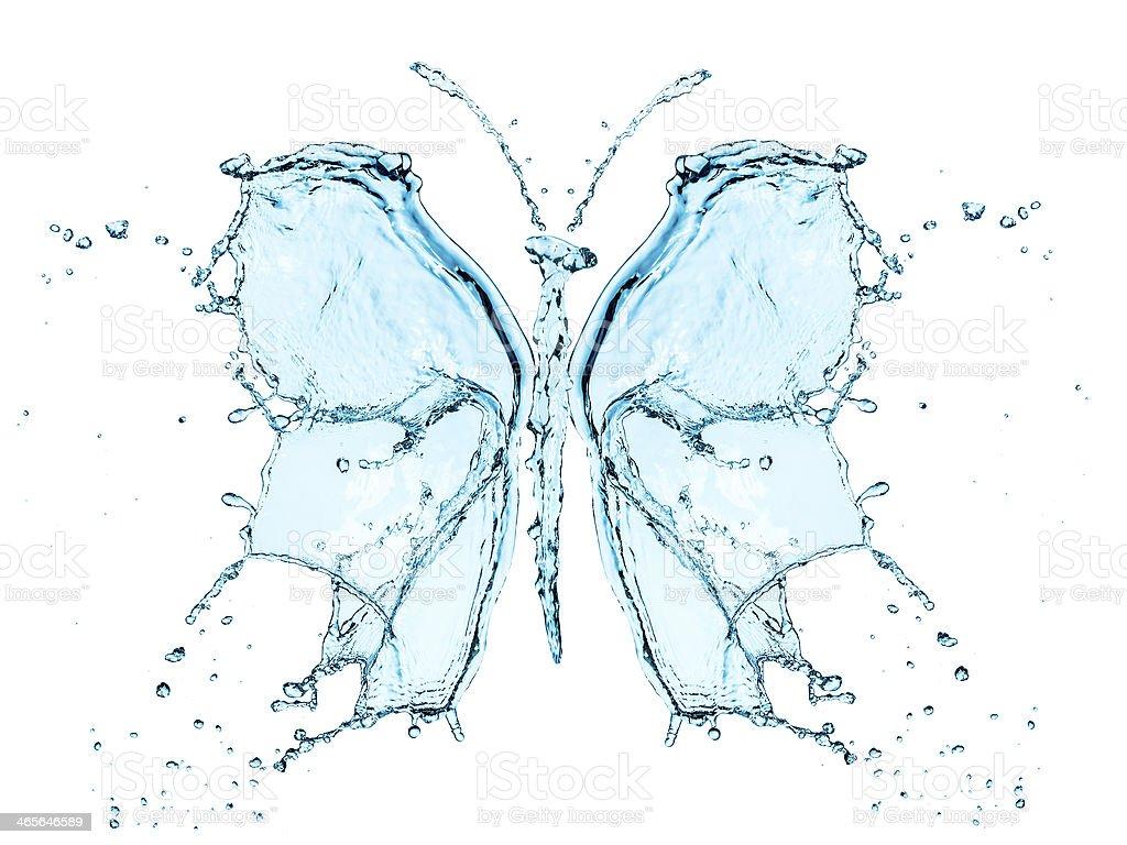 Butterfly splashing water royalty-free stock photo