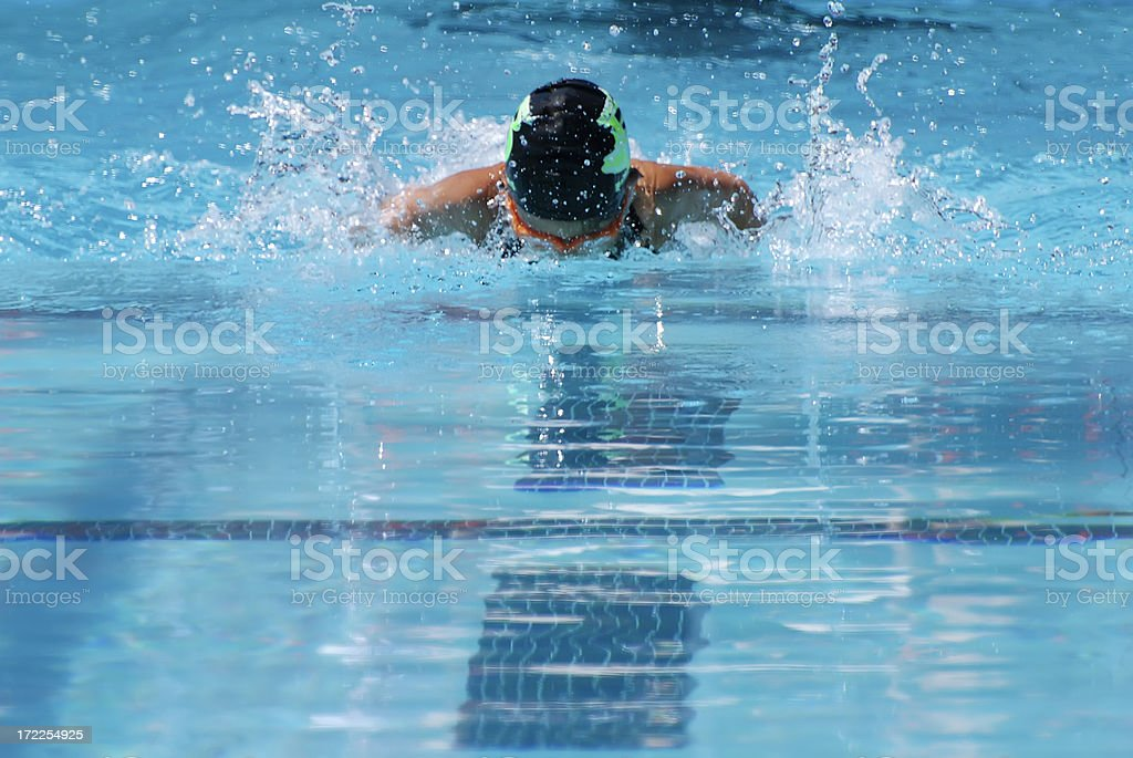 Butterfly Swimmer stock photo
