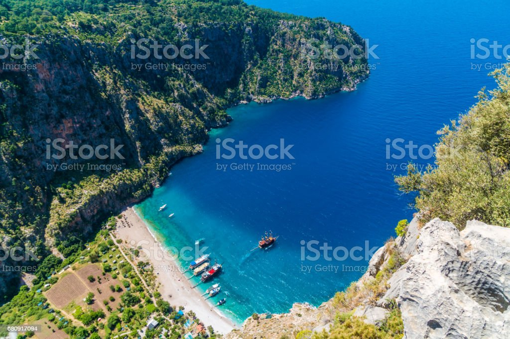 Butterfly valley. Fethiye / Turkey royalty-free stock photo