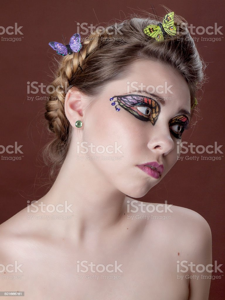 Butterfly wings make up stock photo