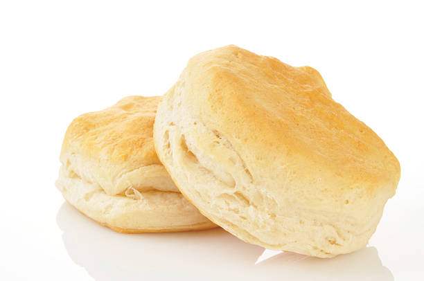 Butterilk biscuits Buttermilk biscuits on a white background biscuit stock pictures, royalty-free photos & images