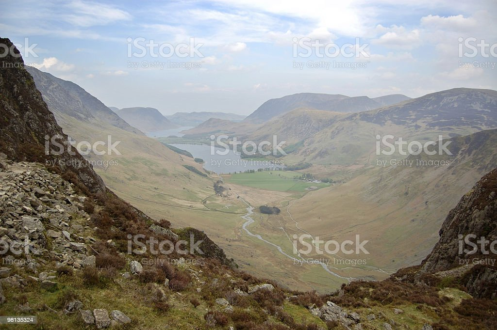 Buttermere from Haystacks path royalty-free stock photo