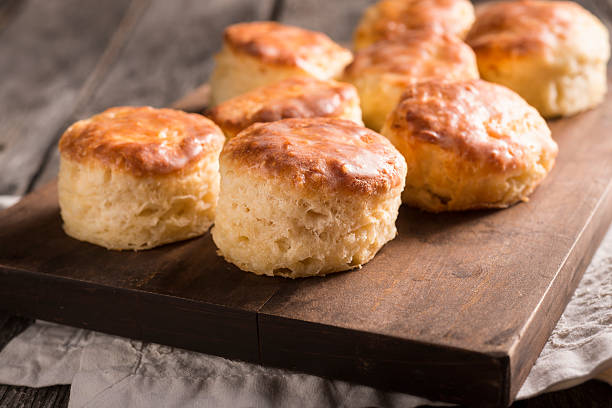 Buttermilk Biscuits Fresh Buttermilk Biscuits biscuit stock pictures, royalty-free photos & images