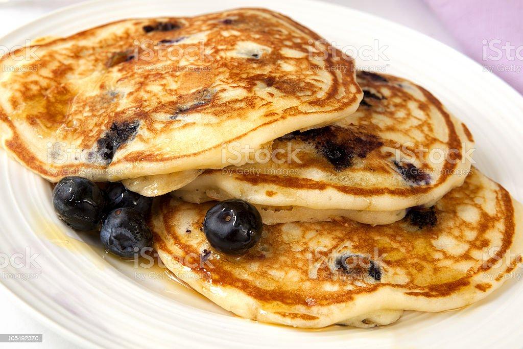 Buttermilk Blueberry Pancakes stock photo