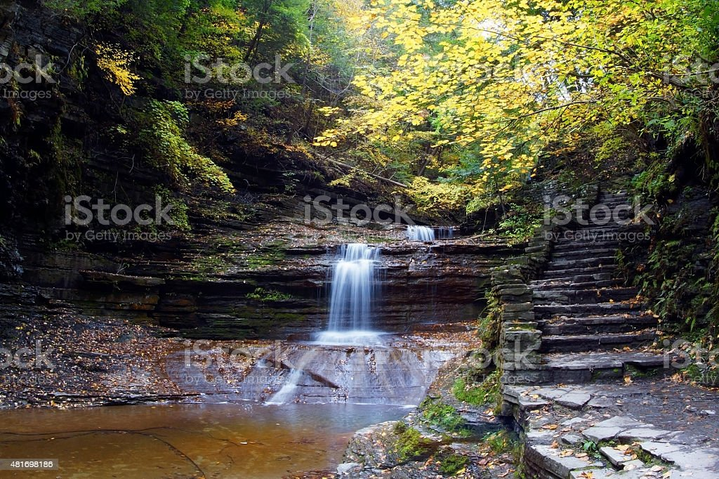 Buttermilk Falls State Park stock photo