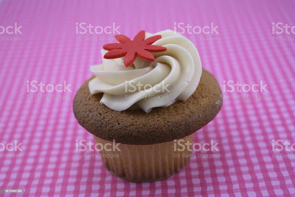 Buttermilk Vanilla Cupcake stock photo