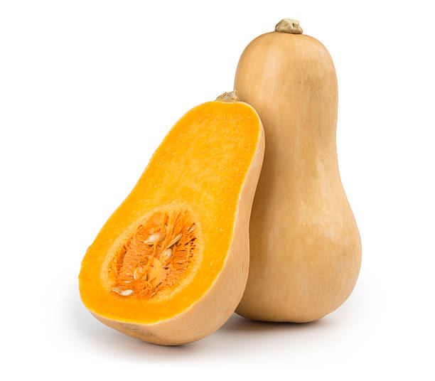 Butternut squash Fresh butternut squash isolated on a white background squash vegetable stock pictures, royalty-free photos & images