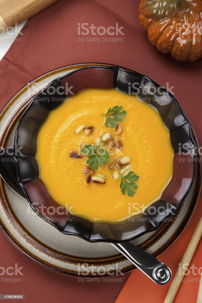 Butternut Squash Soup royalty-free stock photo