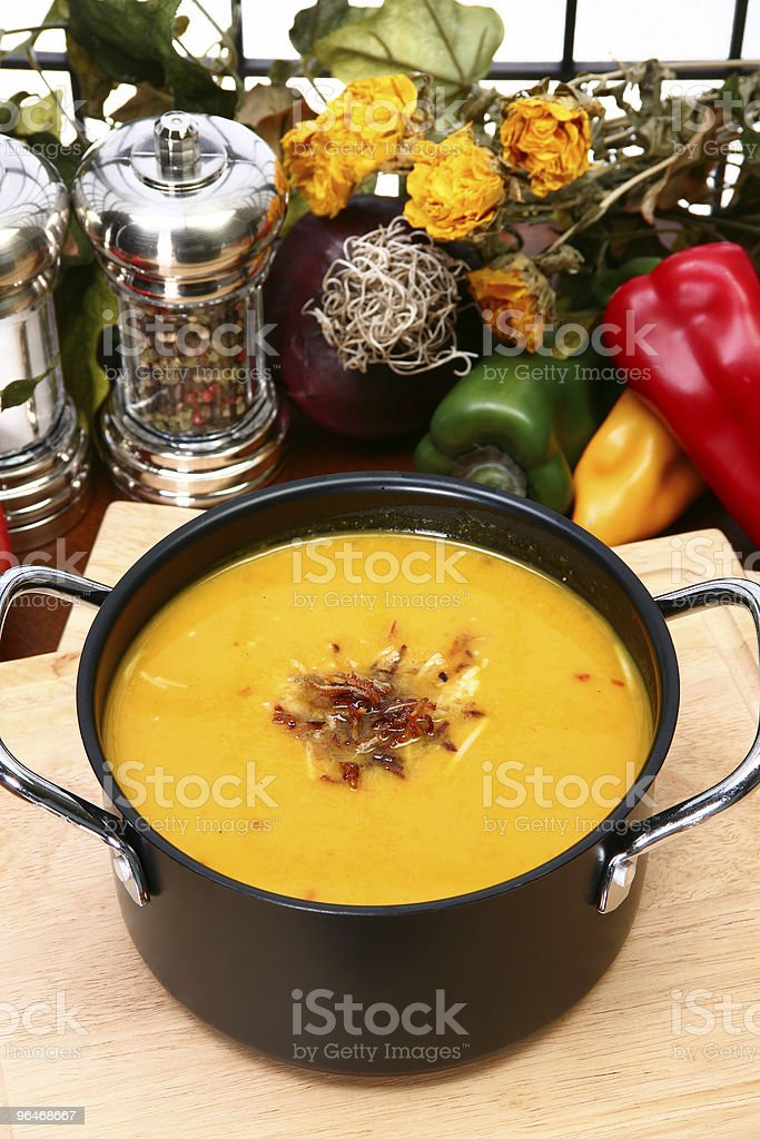 Butternut Squash Soup royalty-free stock photo