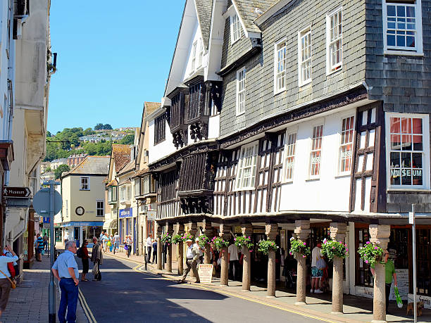 Butterwalk, Dartmouth. stock photo