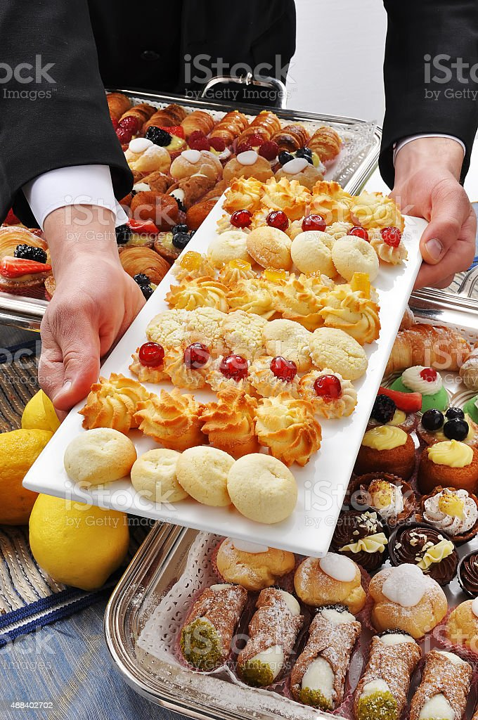 Buttery - Tray of Pastries stock photo