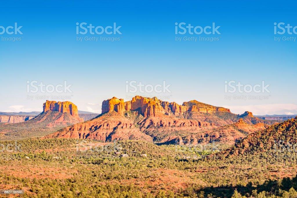 Buttes and mesas in Sedona Arizona USA stock photo