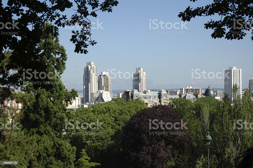 Buttes Chaumont Paris from the other side royalty-free stock photo