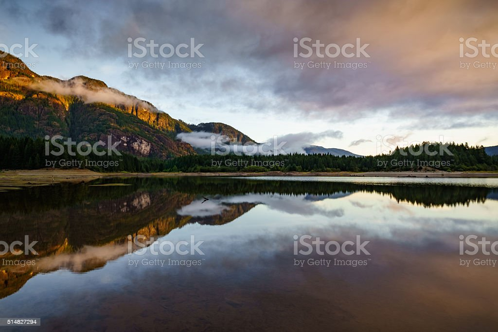 Buttle Lake, Strathcona Provincial Park, Campbell River, British stock photo