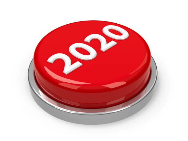 Button 2020 stock photo