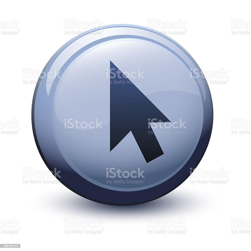 button 3d cursor arrow black stock photo
