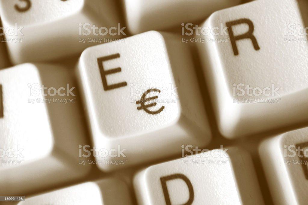 Button € stock photo