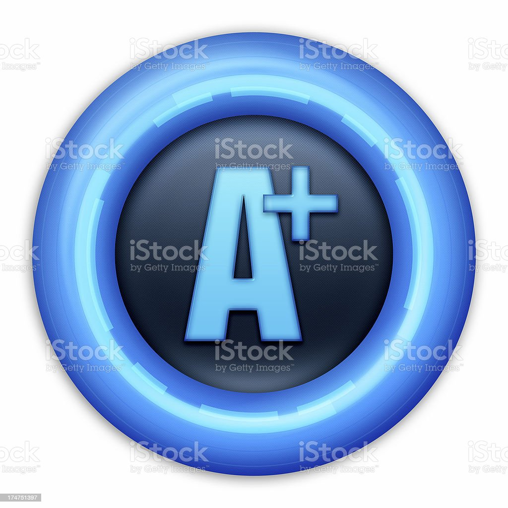 Button A+ royalty-free stock photo