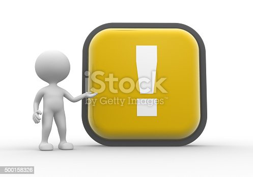 istock Button and exclamation mark 500158326