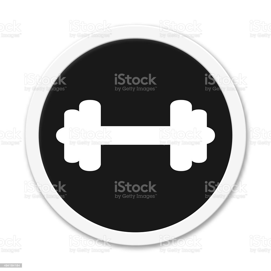 Button barbell stock photo