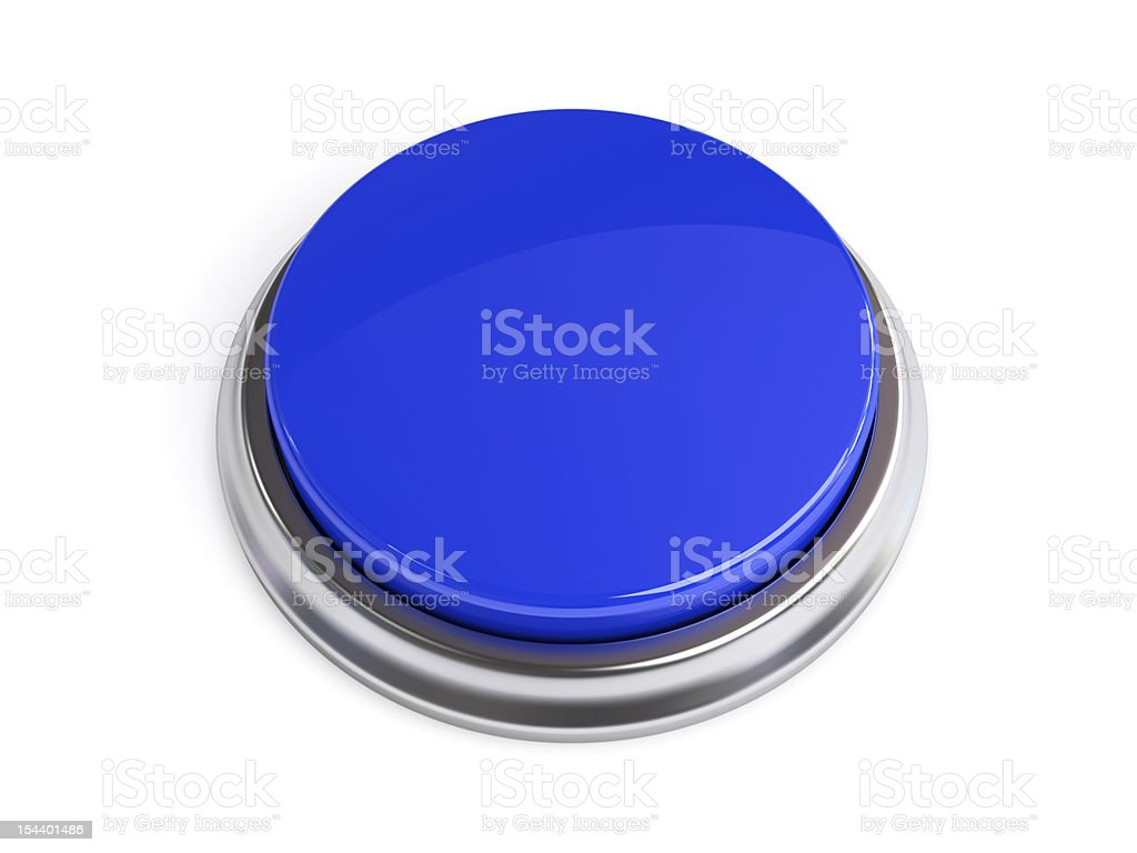 Button Blue Blank stock photo