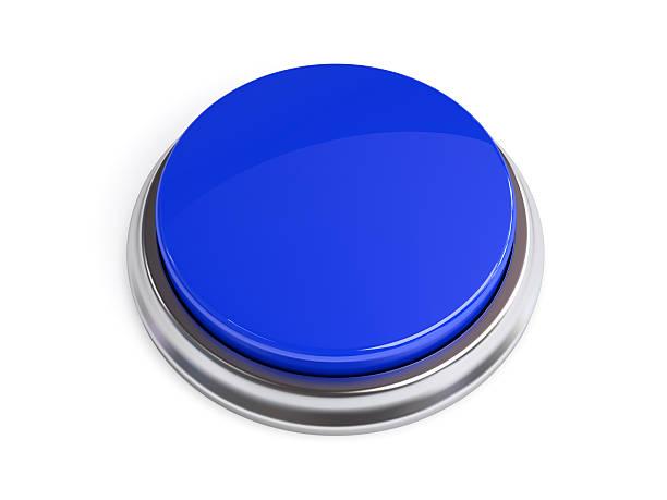 Botón azul, blanco - foto de stock