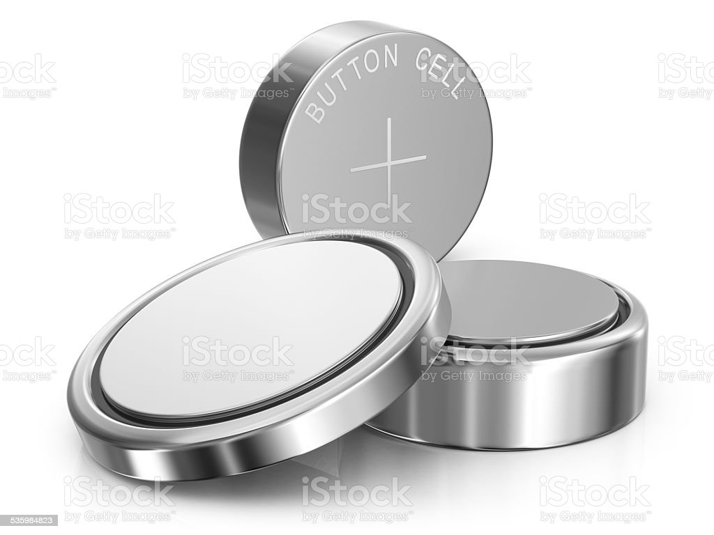 Button Cell Batteries bildbanksfoto