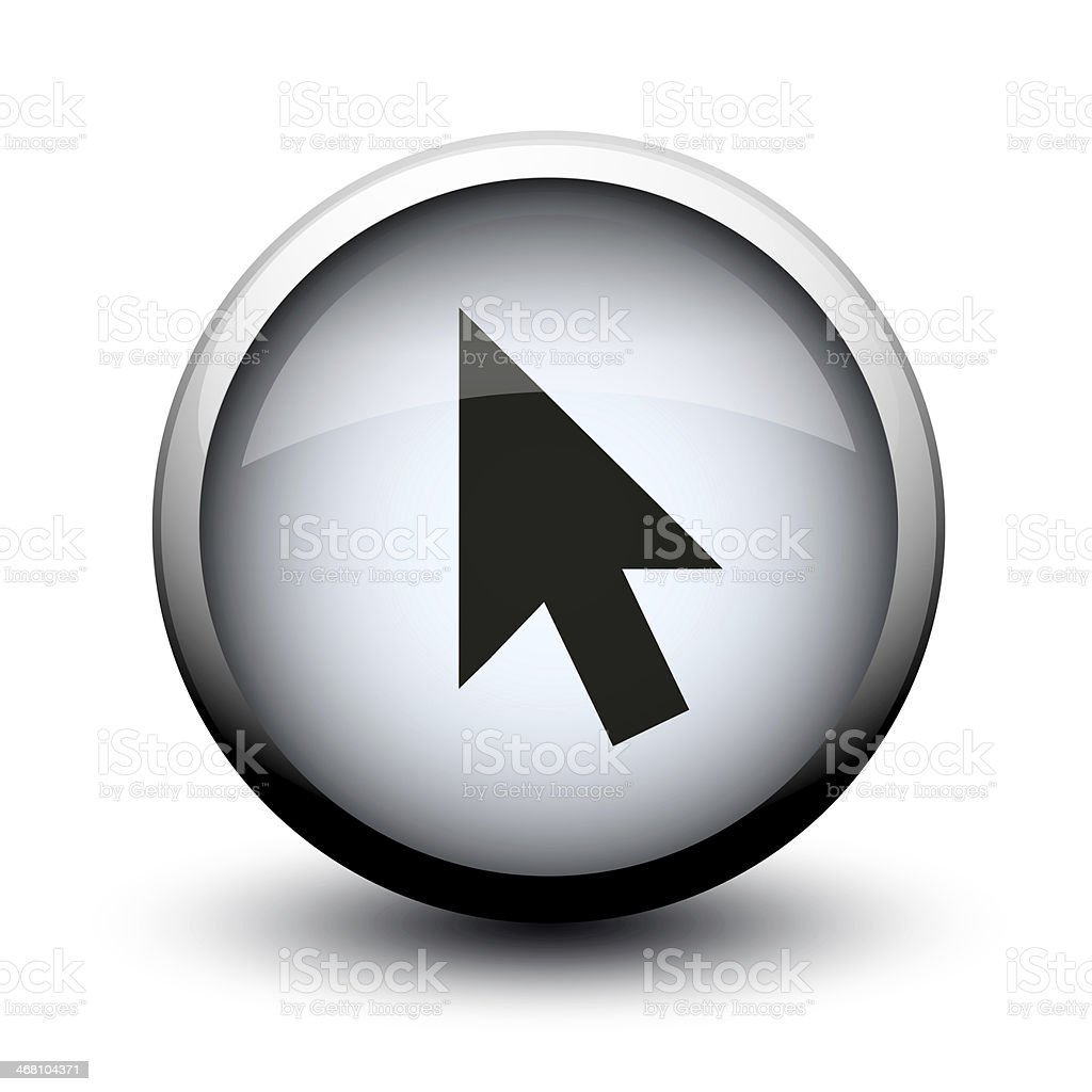 button cursor black 2d stock photo