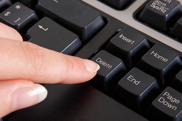button delete - delete key stock photos and pictures