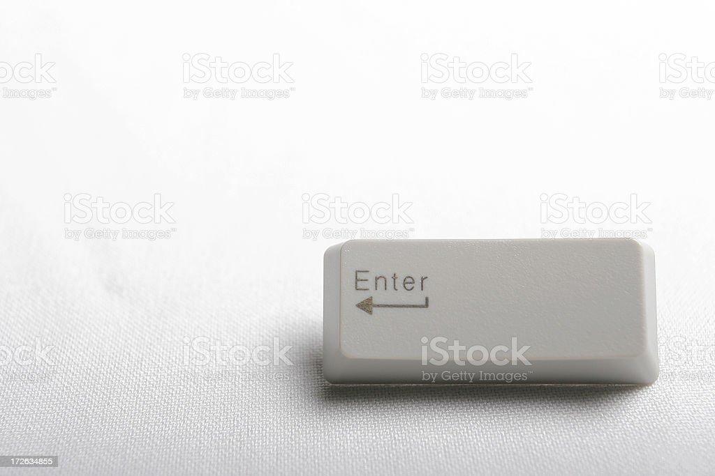 Button - Enter royalty-free stock photo