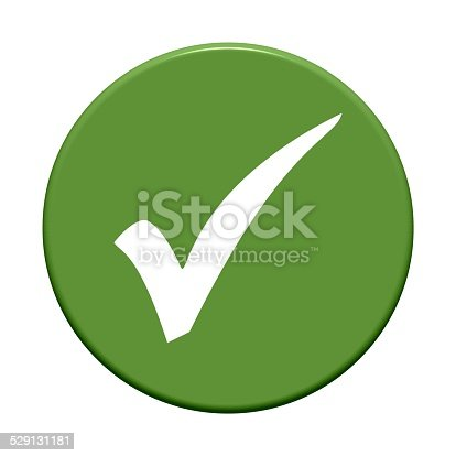 istock Button green: Okay 529131181