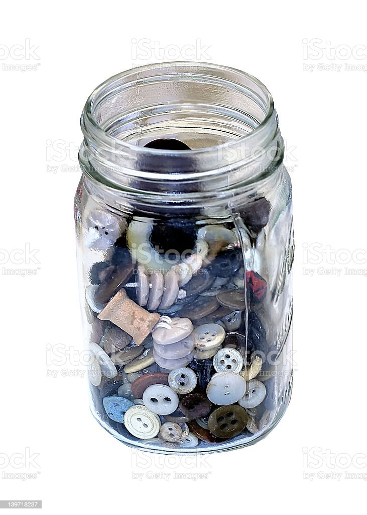 Button Jar royalty-free stock photo