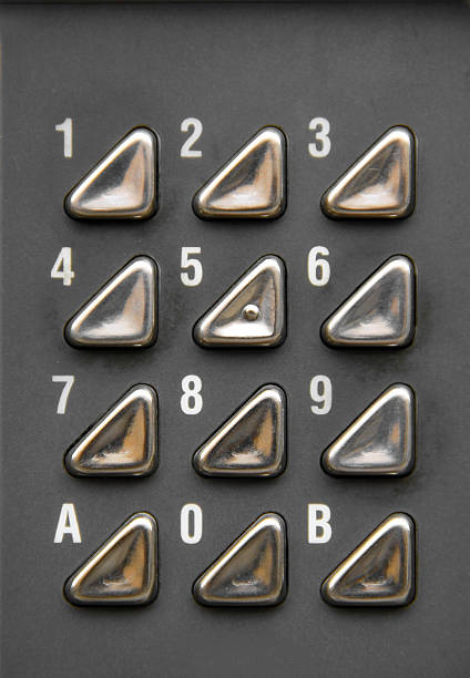 Numero pulsante set - foto stock