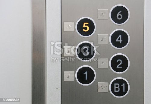 Button and Braille of the elevator