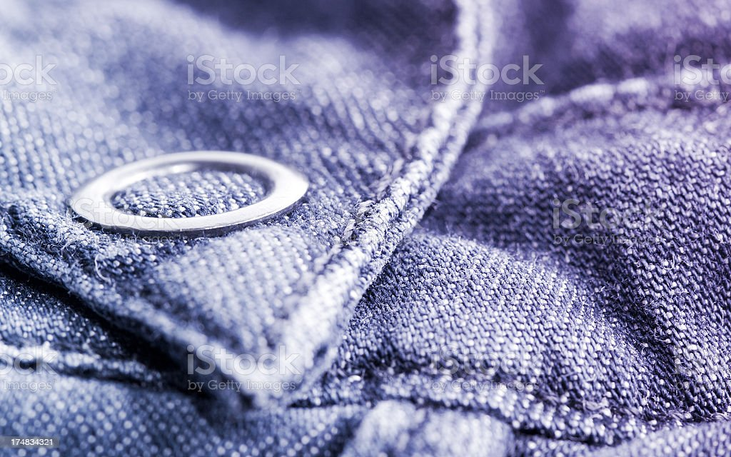 Button on a Denim Shirt royalty-free stock photo
