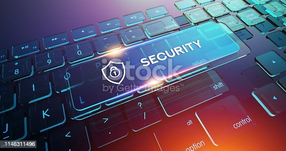 502195097istockphoto SECURITY Button on Computer Keyboard 1146311496