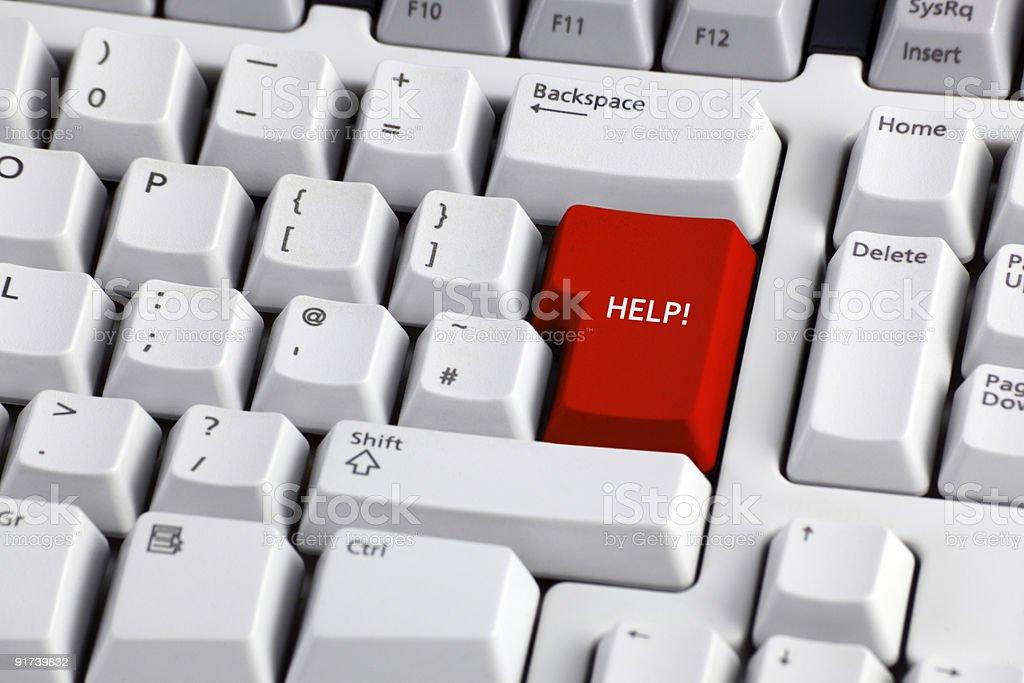 Справка» на Компьютерная клавиатура Стоковые фото Стоковая фотография
