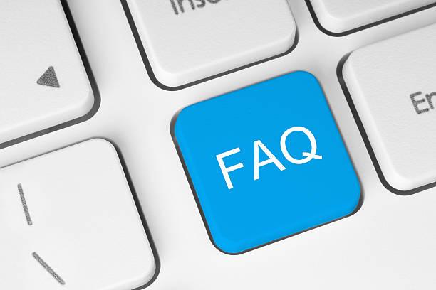FAQ-Taste auf der Tastatur – Foto