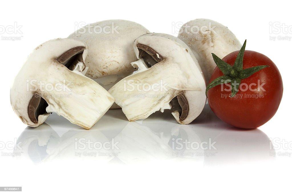 Button or champignon mushroom royalty-free stock photo