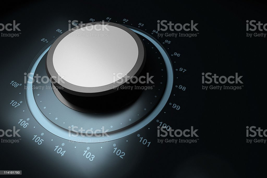 FM button stock photo