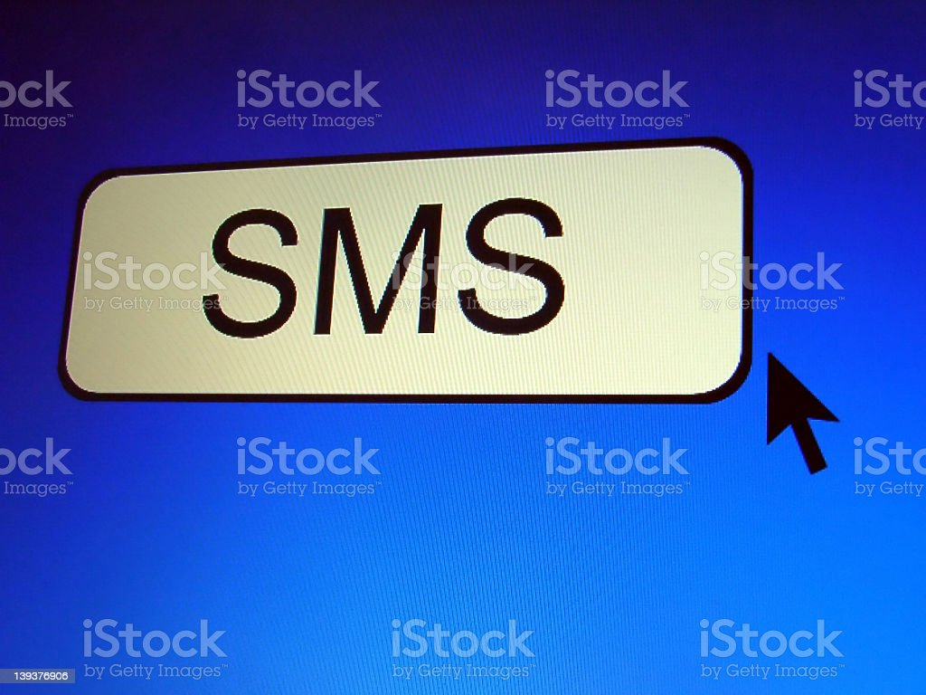SMS Button royalty-free stock photo