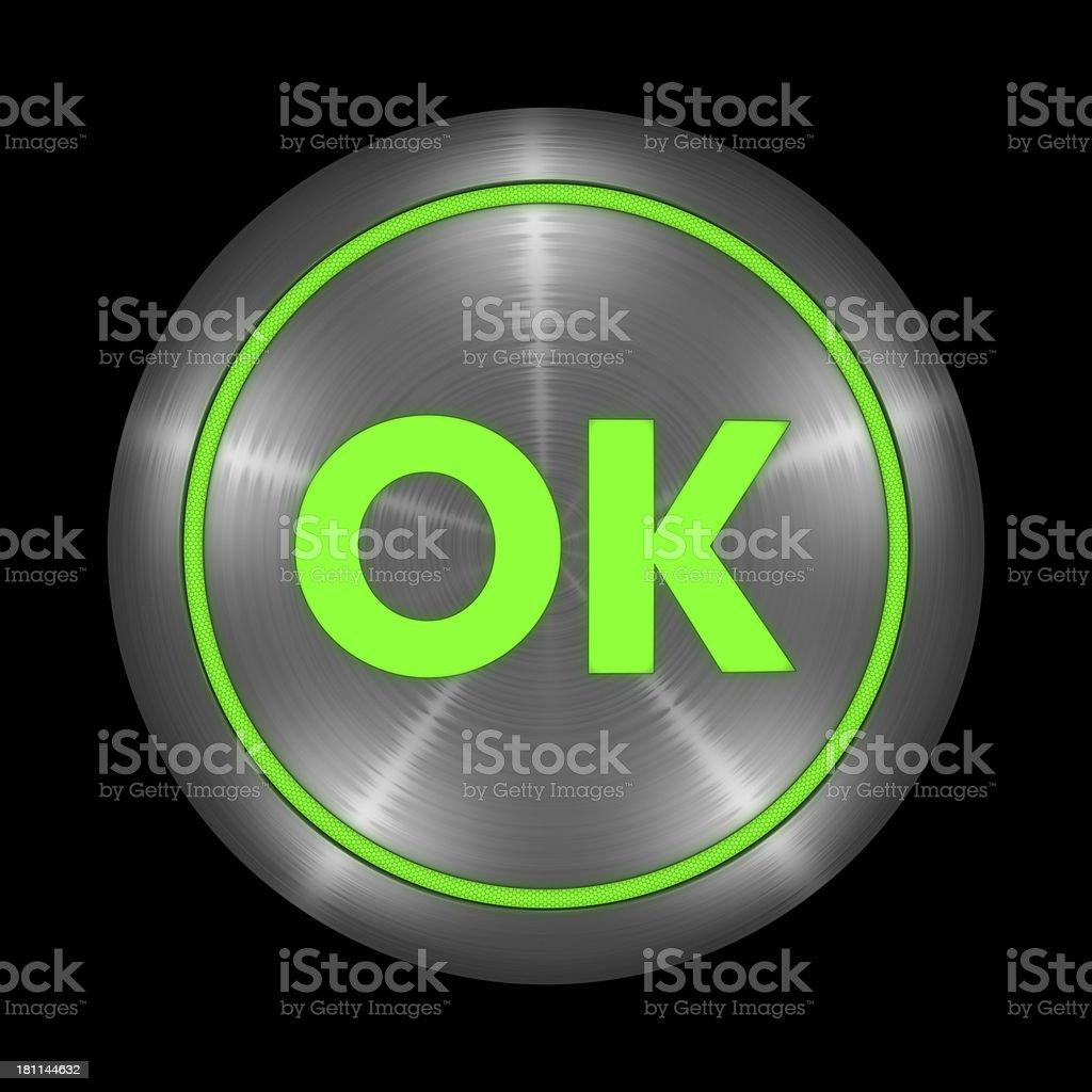 OK Button royalty-free stock photo