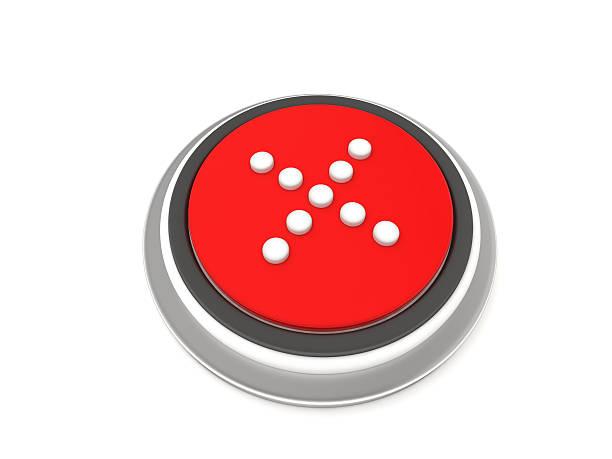 X Button stock photo