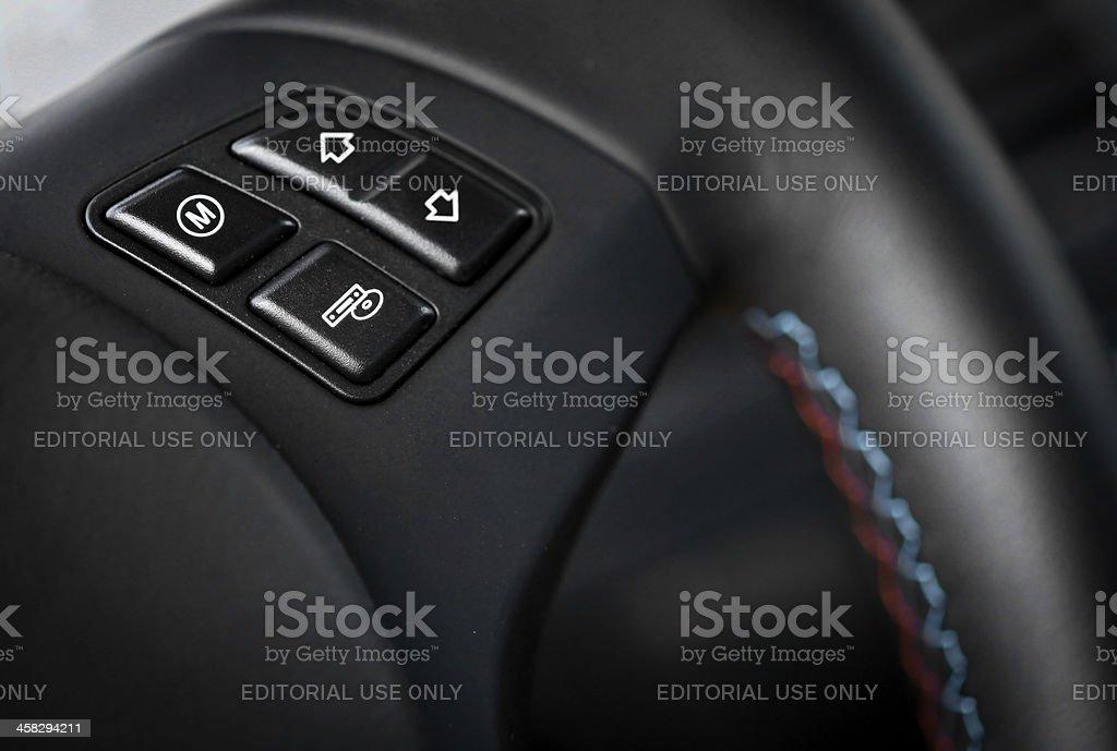 BMW M3 button royalty-free stock photo